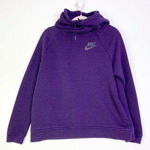 Nike Womens Drawstring Hoodie Fleece Sweatshirt LG